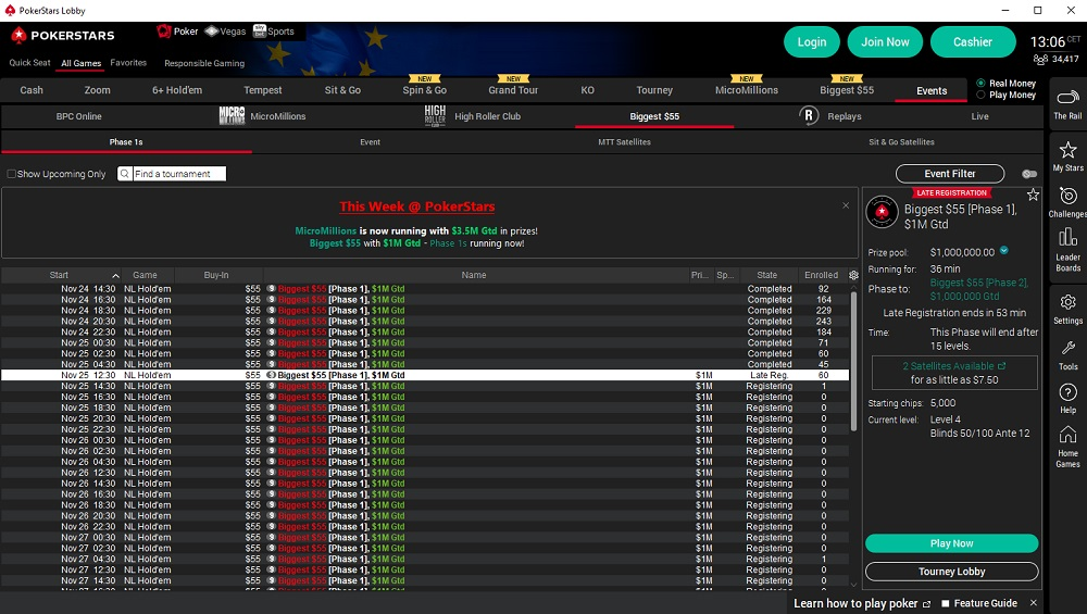 biggest $55 pokerstars