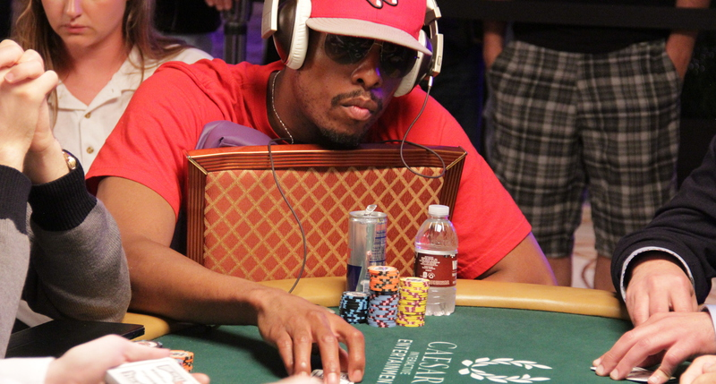 Pierce in the 2014 WSOP main event