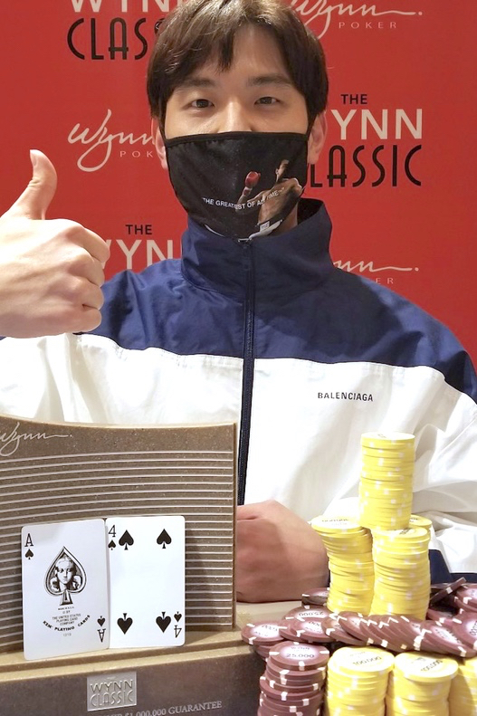 Hyun after taking down the Wynn Spring Classic main event