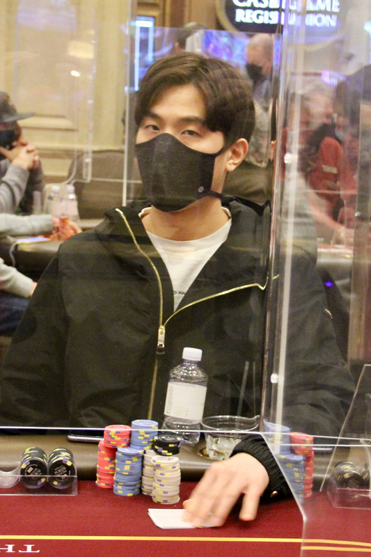Hyun playing in the 2021 CPPT Venetian main event